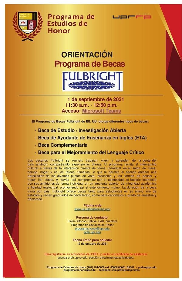 ORIENTACIÓN Beca Fulbright
